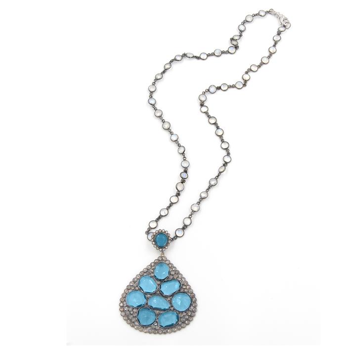 Marakesh Blue Topaz Pendant Necklace