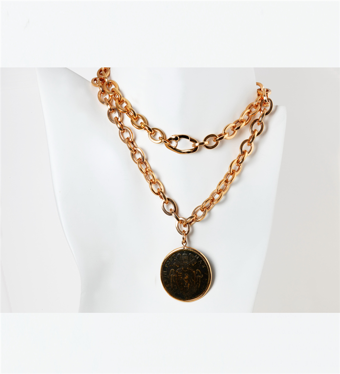 Bold Coin Necklace