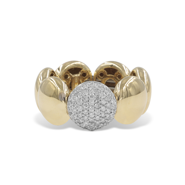 Gold and Diamond Stretch Ring