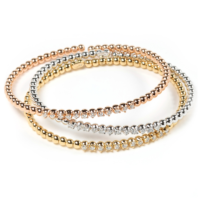 Stackable Thin Diamond Bangles