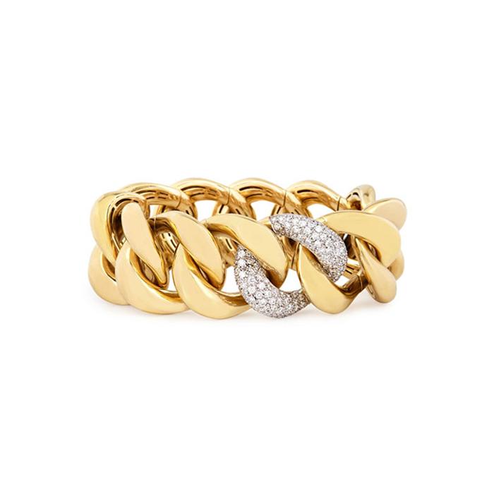 Gold & Diamond Link Bracelet