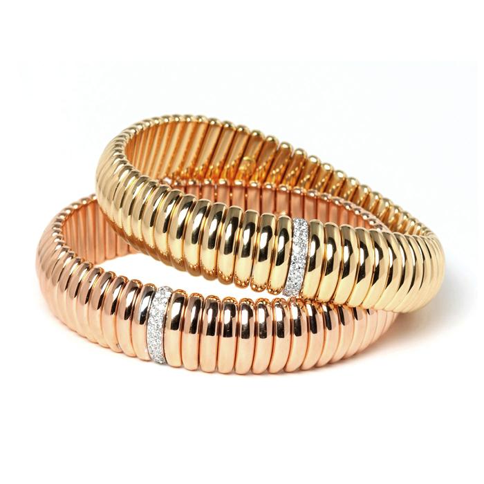 Rose Gold & Diamond Stretch Bracelet