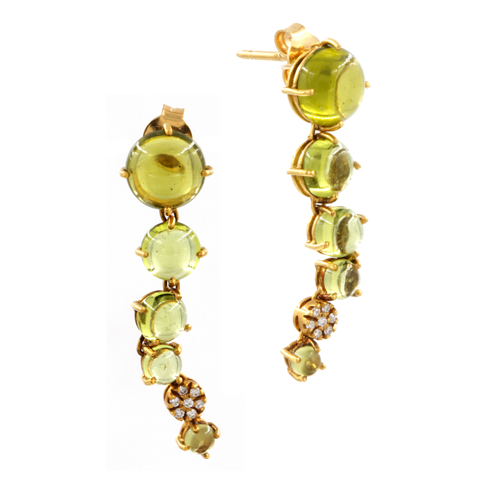 Peridot Bubble Earrings