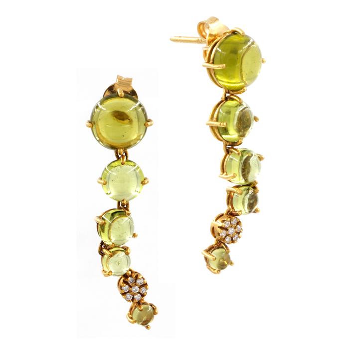 Peridot Bubble Earrings