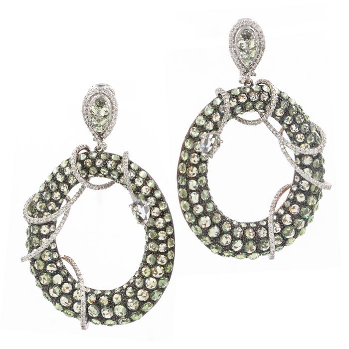 Unique Green Sapphire Earrings