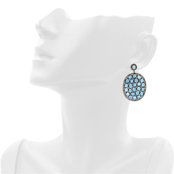 Marakesh Oval Blue Topaz Earrings
