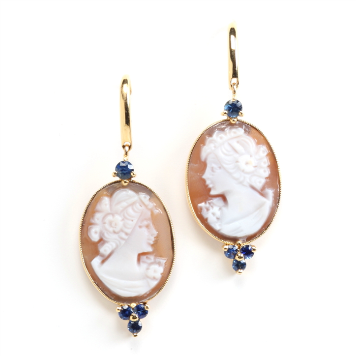 Petite Cameo earrings