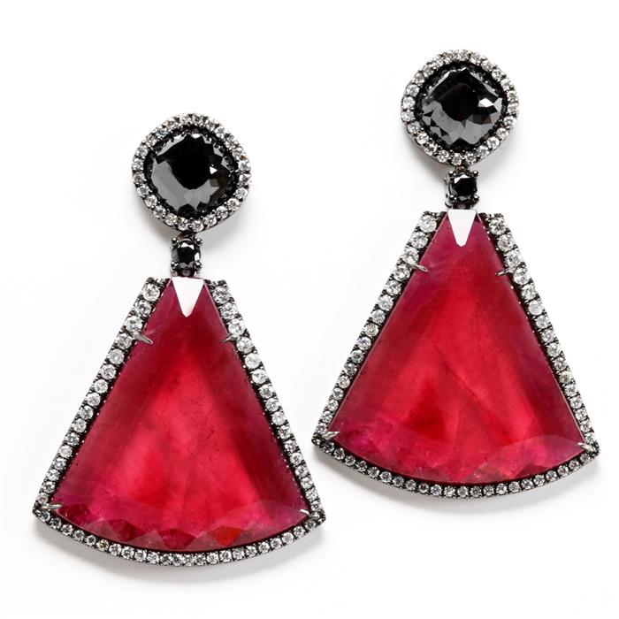 Rubellite Earrings