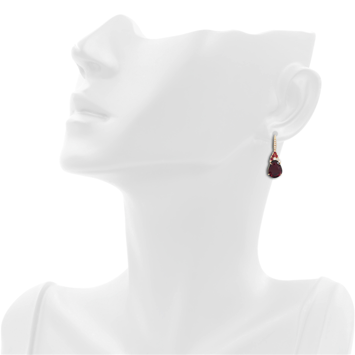 Garnet, Sapphire & Diamonds Earrings