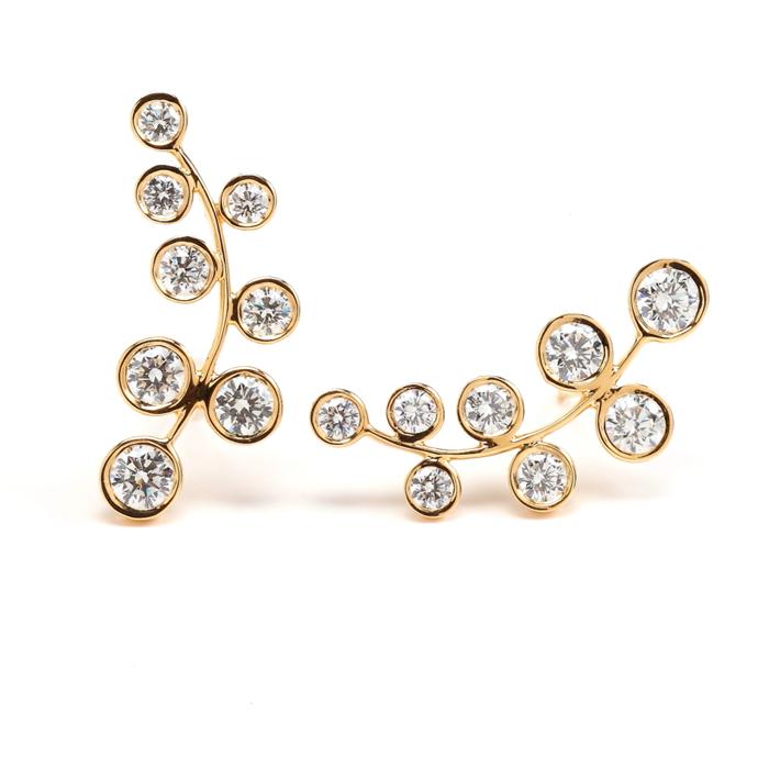 18KY Diamond Vine Earrings