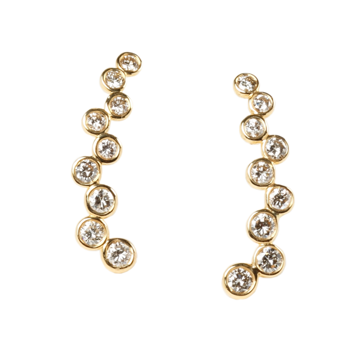 Bubble Vine Diamond Earrings