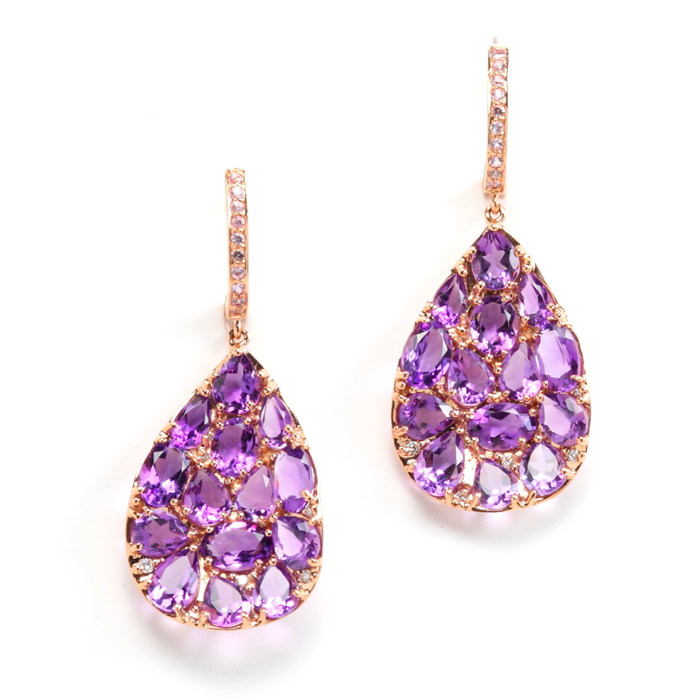 drop Petali earrings in Amethyst