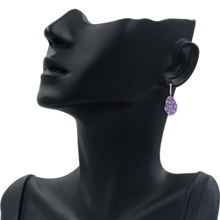 Amethyst Wavy Earrings