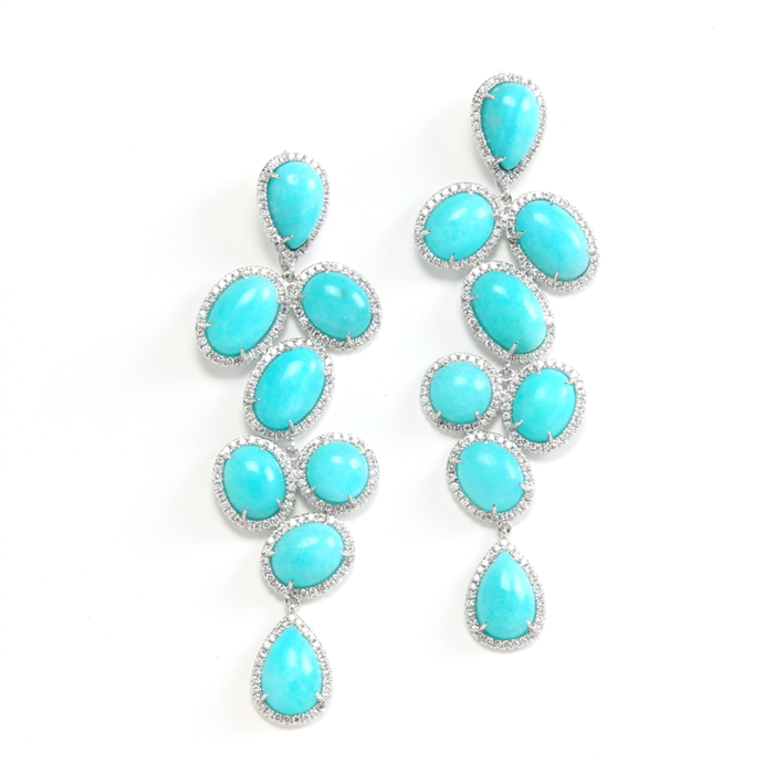 amazonite dangling earrings