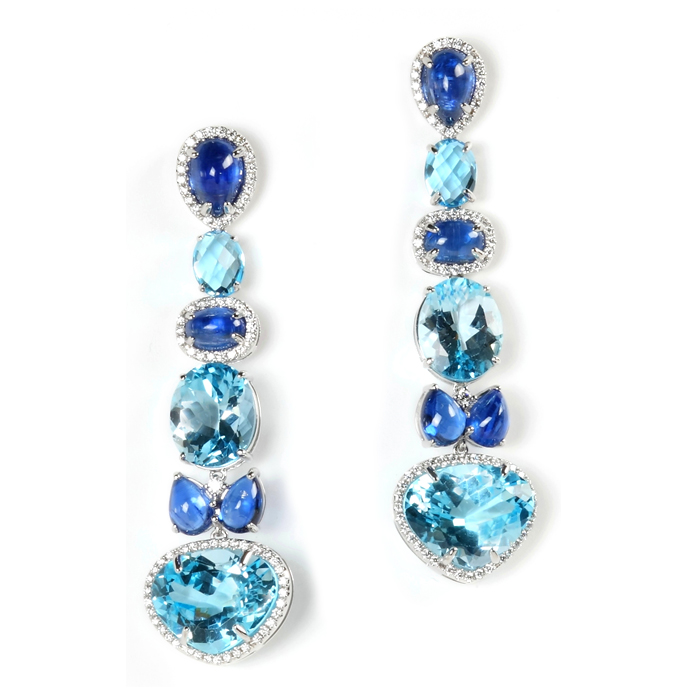 dazzling blue earrings