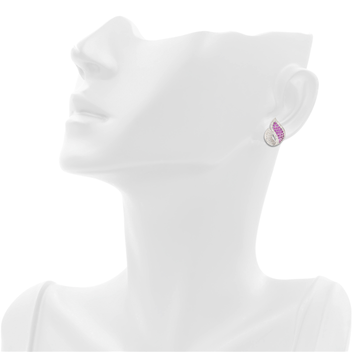 The Pink Flame Earrings