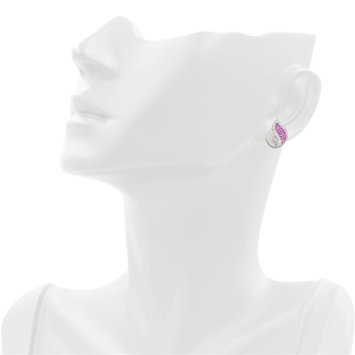 Pink Flame Earrings
