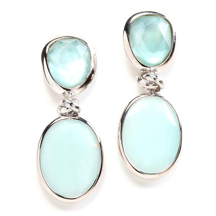 Ocean Blue and Amazonite earrings