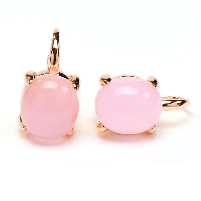 Pink crystal Bubble Earrings