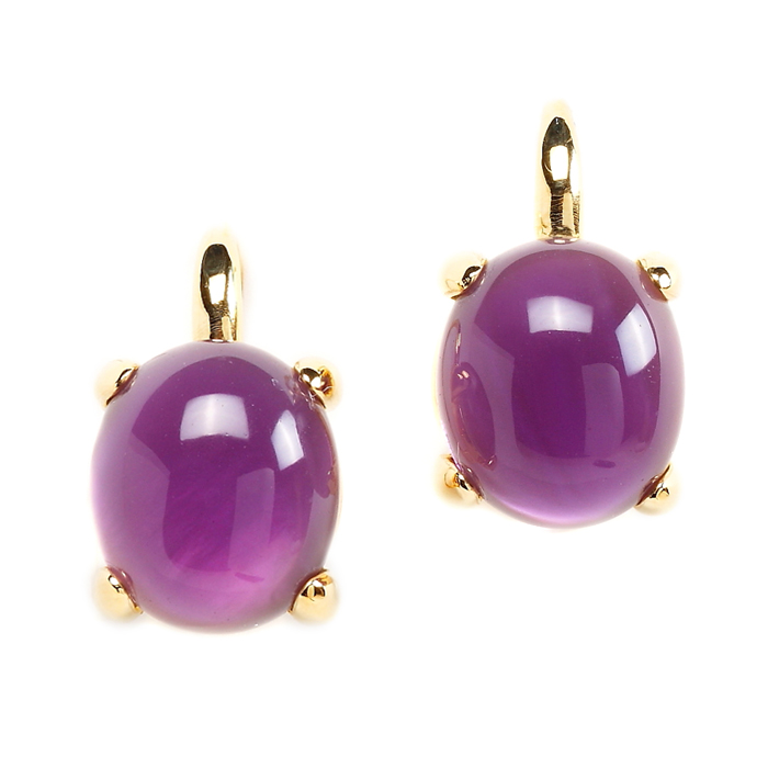 Amethyst Bubble Earrings