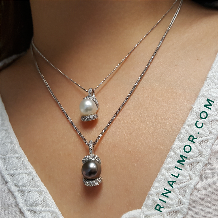 South Sea Pearl Pendant and Diamond Necklace