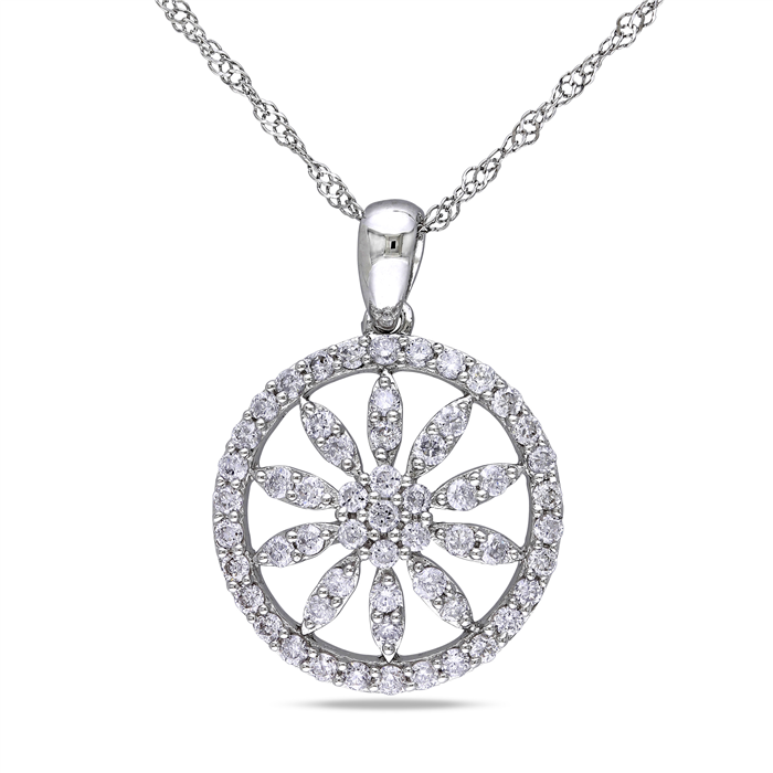 Diamond Shield Pendant Necklace