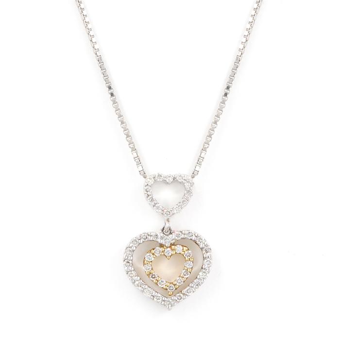 Petite Diamond Heart Neckalce