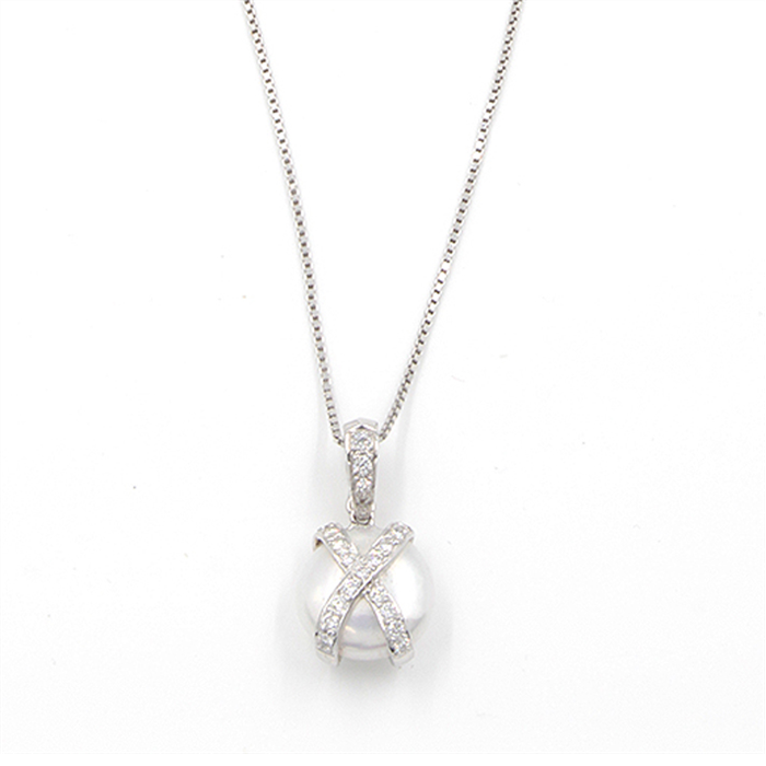 Coin Pearl & Diamond Necklace