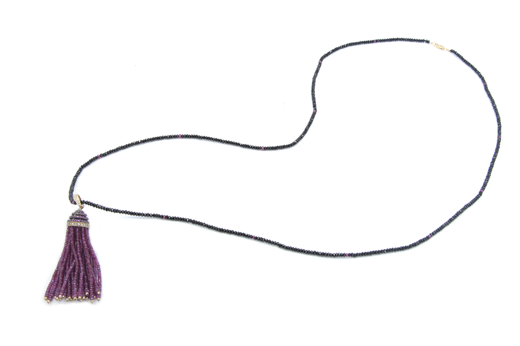 Ruby Tassel Necklace