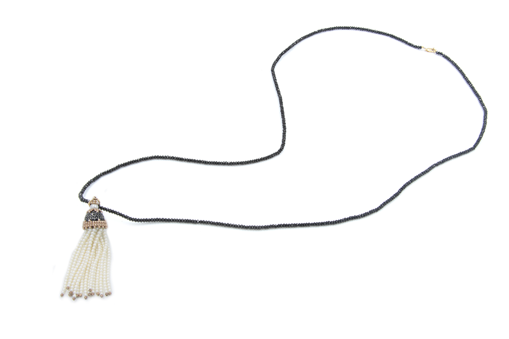 Fresh water pearl Tassel Necklace