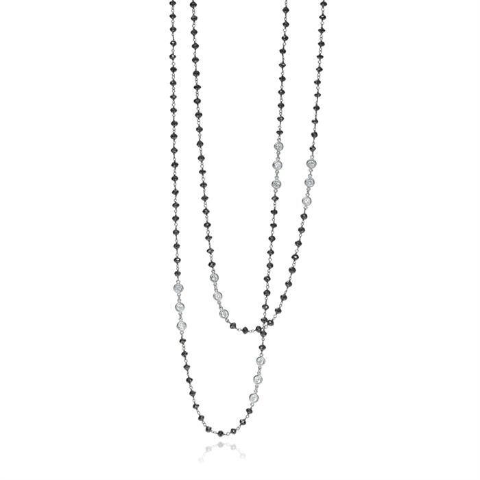 Long Black Diamond Necklace