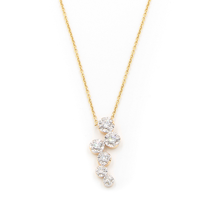 Diamond Bubble Pendant Necklace