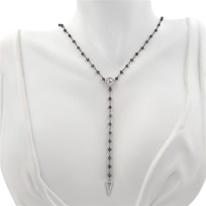 """Black Diamond """"Y"""" Necklace"""