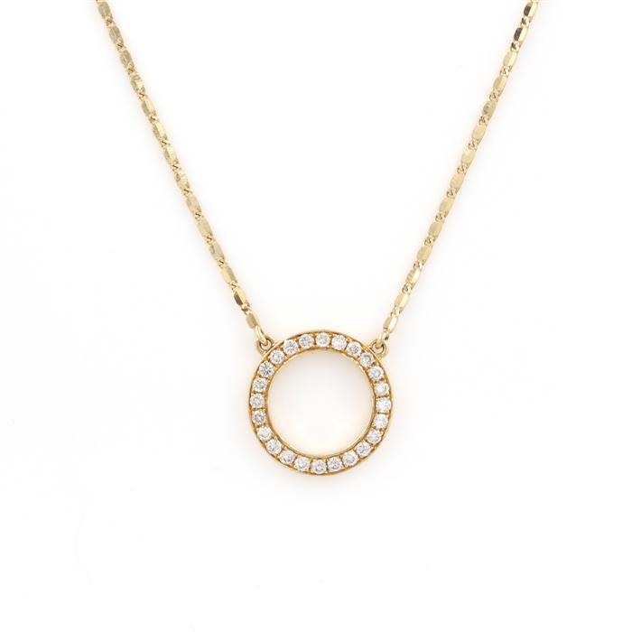 Diamond Open Circle Pendant Necklace