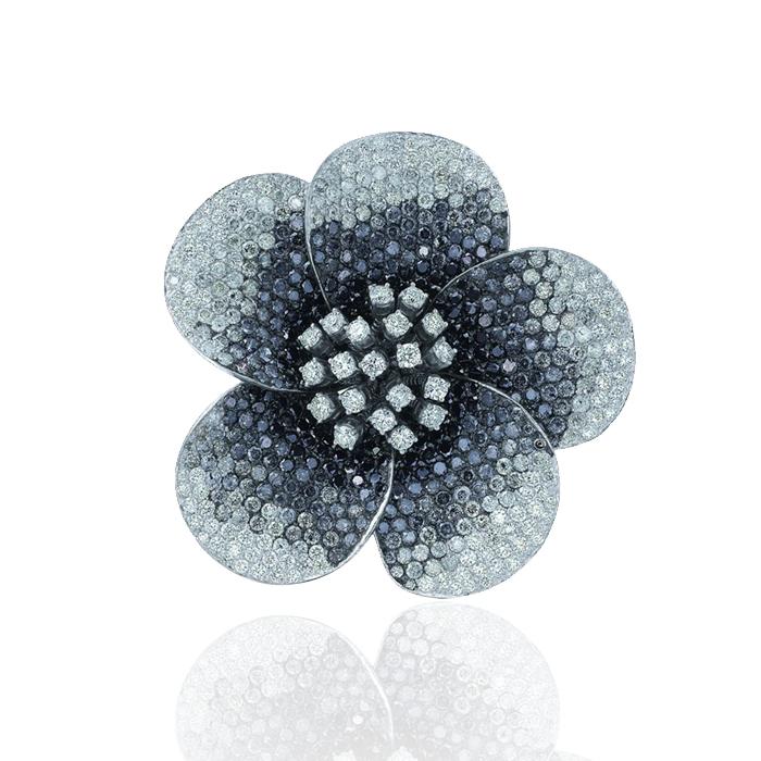 Flower Diamond Brooch
