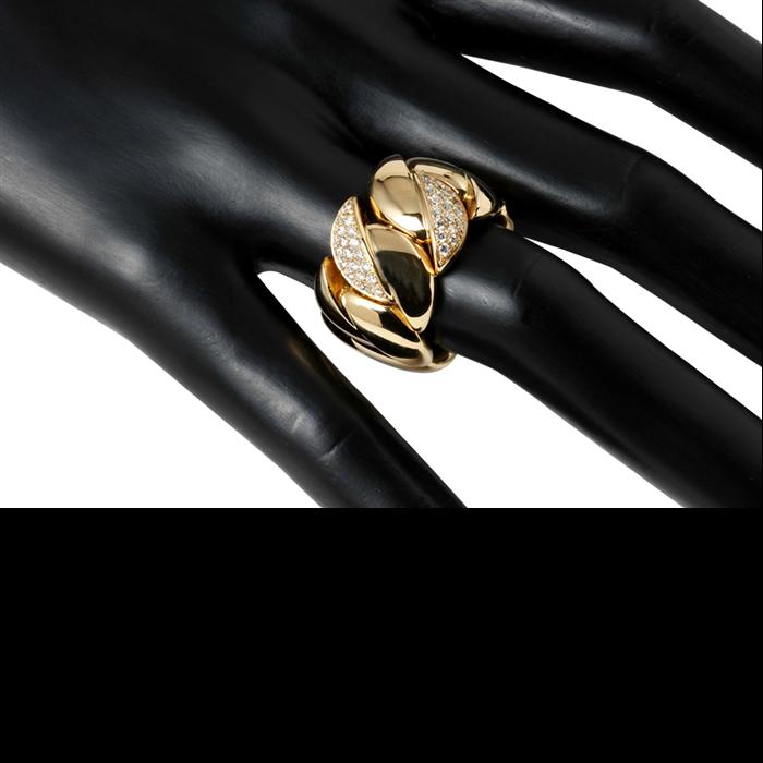 Gold & Diamond Stretch Ring