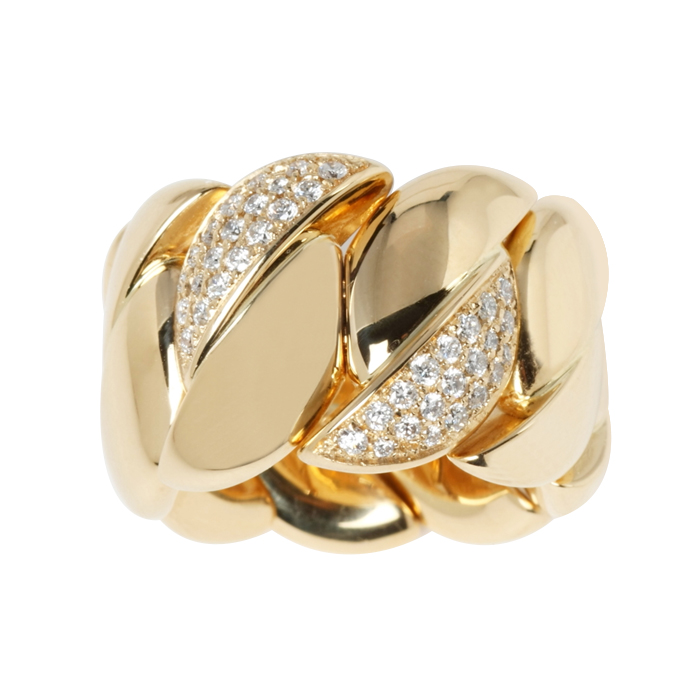 Gold & Diamond Stretch Ring