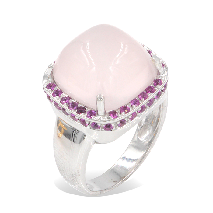 Rose Quartz Fashion Ring