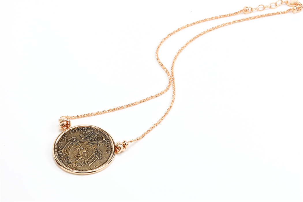 Rina Limor Sunrise Coin Pendant Necklace n11p6Q