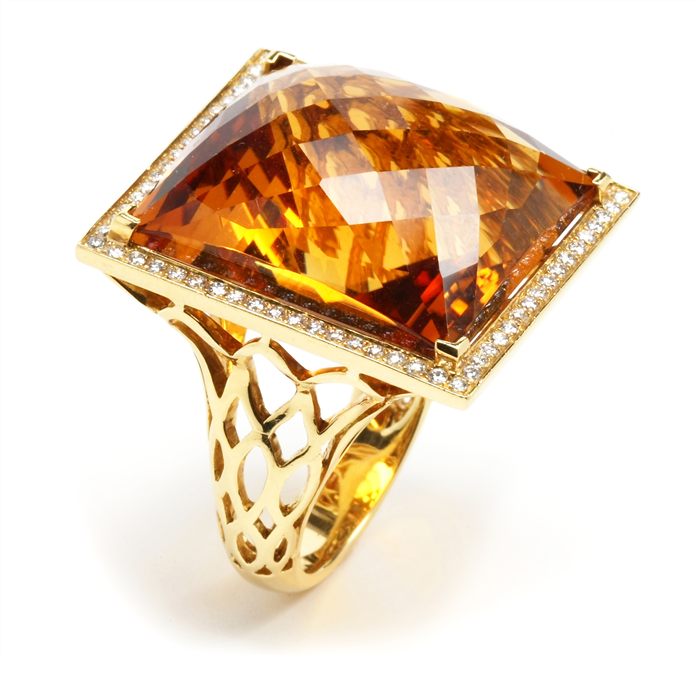 Bold Citrine Ring