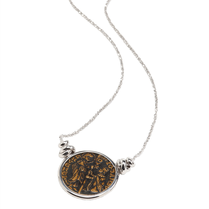 Coin Silver Pendant Necklace