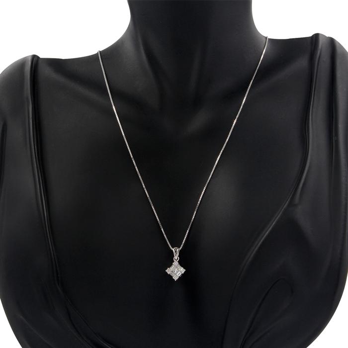 Petite Diamond Pendant Necklace