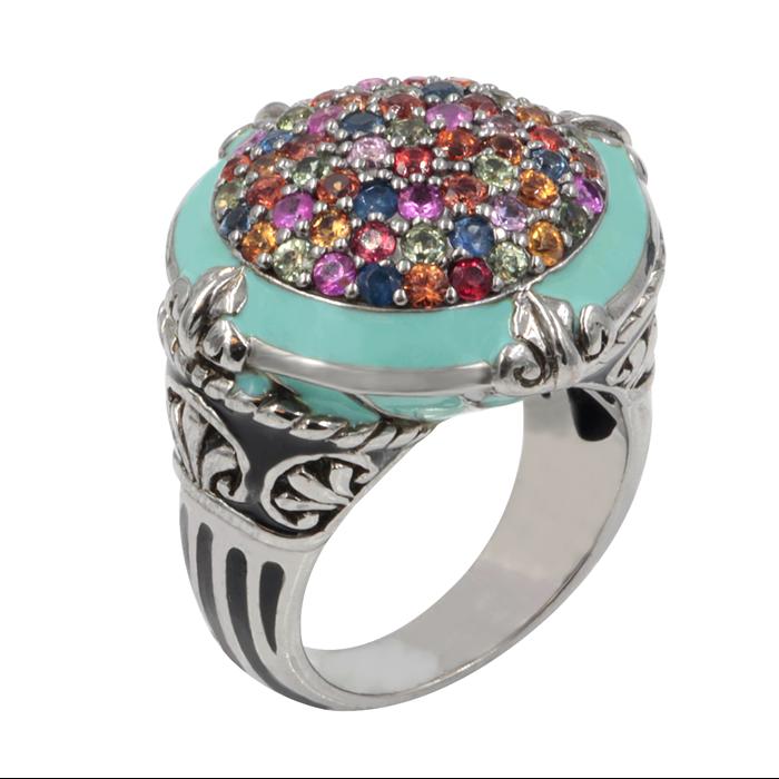 Mix sapphire Calypso Ring