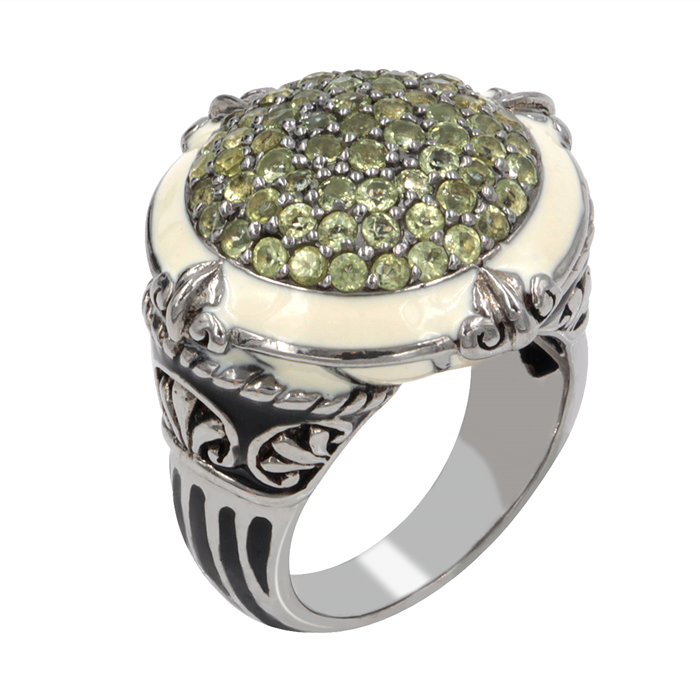 Peridot Gemstone Calypso Ring