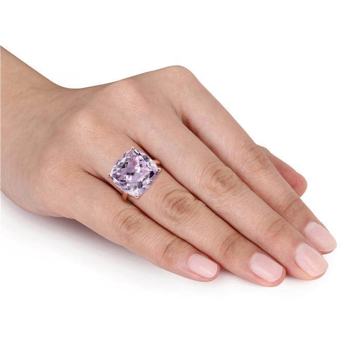 Pink Amethyst Fashion Ring