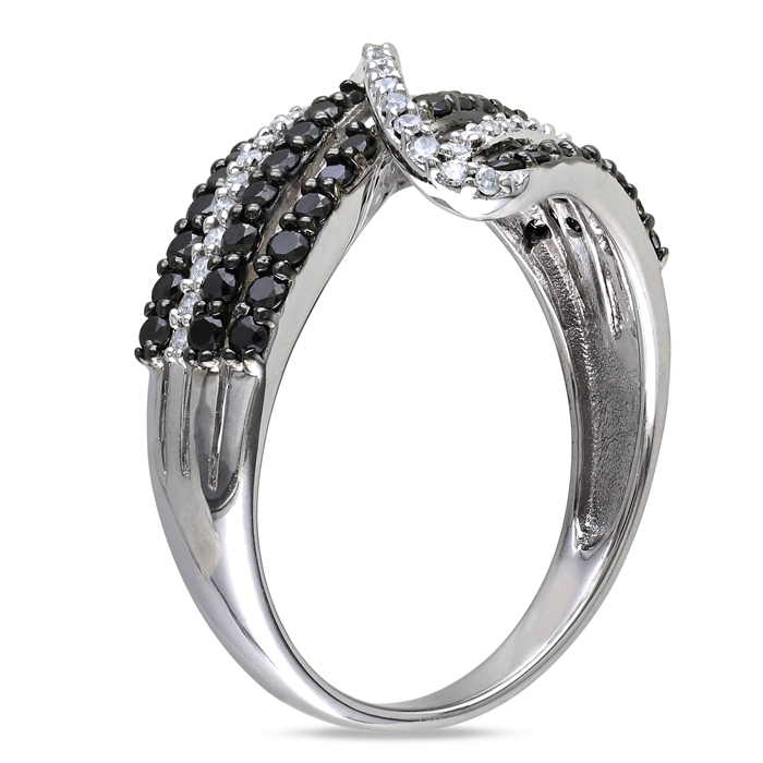 Black and White Crossover Ring