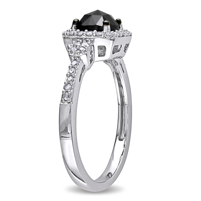 Black & White Halo Ring