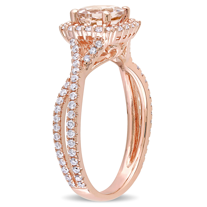 Morganite Crossover Ring
