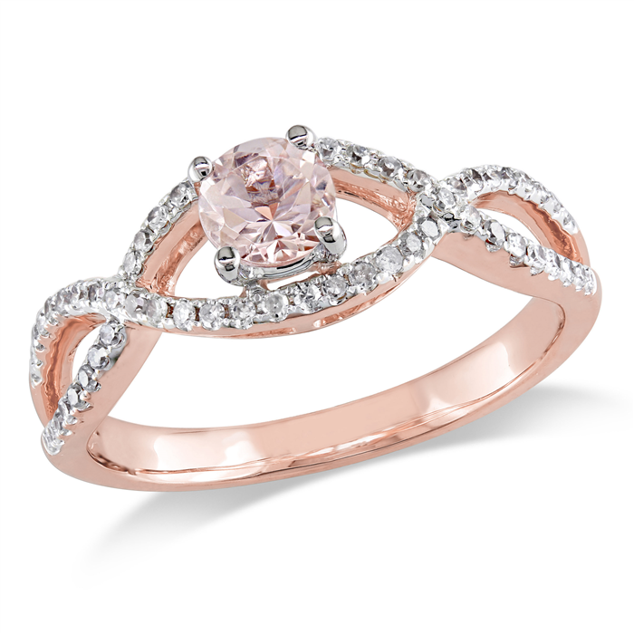 Morganite Infinity Ring