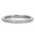 Three row pave eternity band